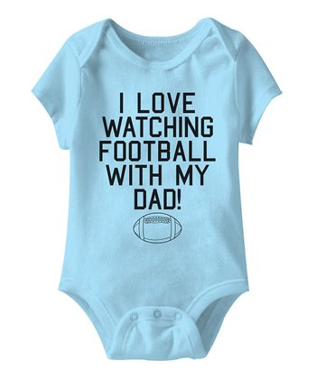 Light Blue 'Watching Football With Dad' Bodysuit - Infant