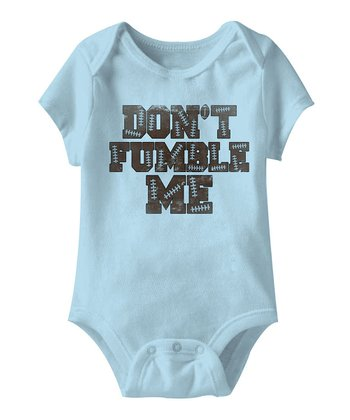 Light Blue 'Don't Fumble Me' Bodysuit - Infant