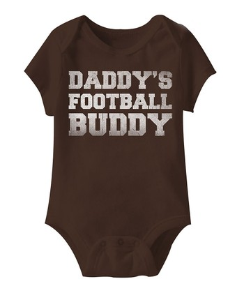 Brown 'Football Buddy' Bodysuit - Infant