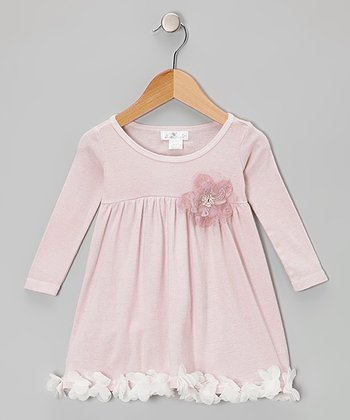 Pink Sequin Petal Dress - Infant