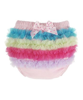 GANZ Light Pink Rainbow Ruffle Diaper Cover