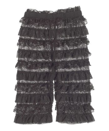 GANZ Black Lace Ruffle Pants