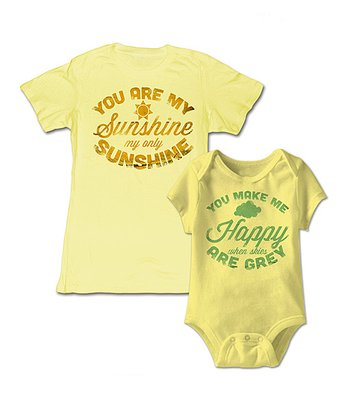 Yellow 'You Are My Sunshine' Bodysuit & Tee - Infant & Women