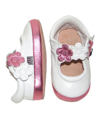 White Flower Mary Jane - Infant & Toddler