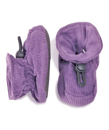 Purple Corduroy Booties