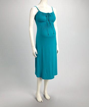 Jade Keyhole Maternity & Nursing Dress