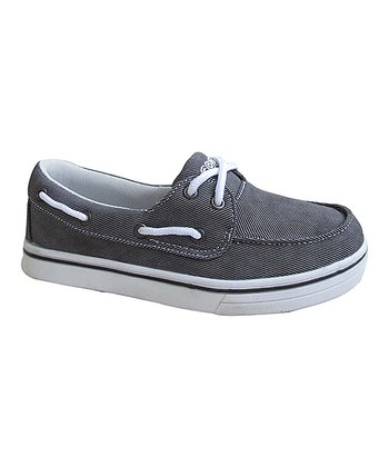 Gray Boat Shoe