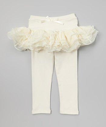 Ivory Ruffle Skirted Leggings - Toddler & Girls
