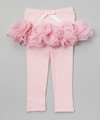 Pink Ruffle Skirted Leggings - Toddler & Girls