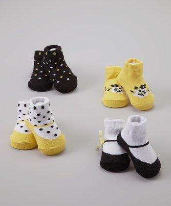 Baby Essentials Yellow & Black Sock Set