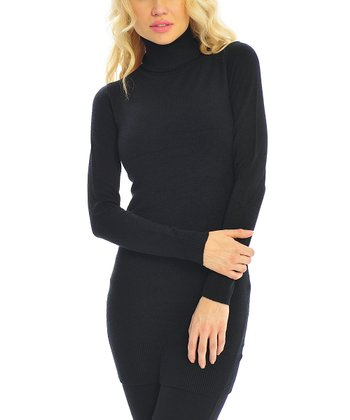 Black Turtleneck Tunic