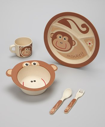 Brown Monkey Bambooware Dinner Set