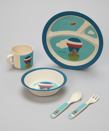 Blue Balloon Bambooware Dinner Set