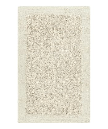 Natural Border Bath Rug