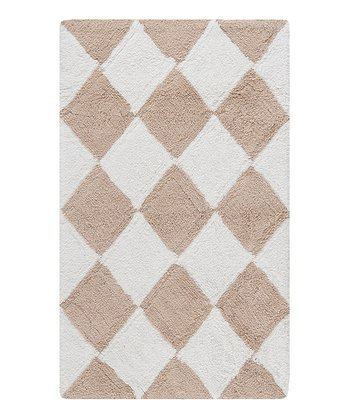 Cream & Beige Diamond Bath Rug