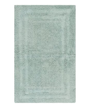 Watery Double Border Bath Rug