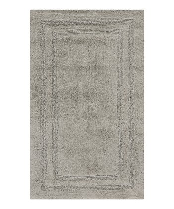 Grant Gray Double Border Bath Rug