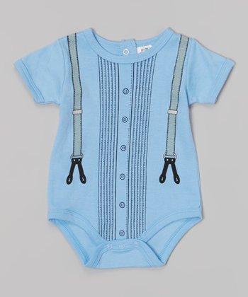 Baby Essentials Blue Suspender Bodysuit