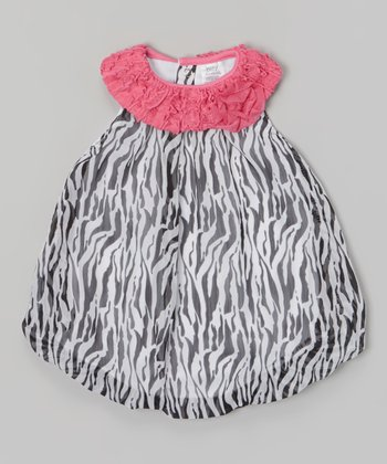 Baby Essentials Black & White Zebra Bubble Bodysuit