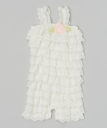 Baby Essentials Ivory Lace Romper
