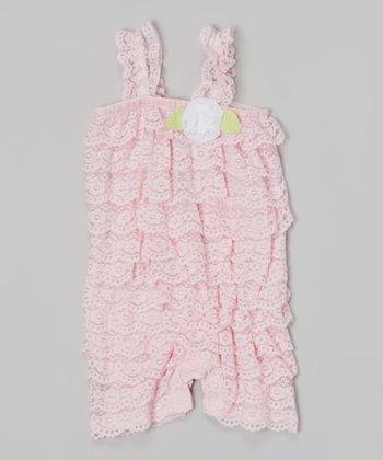 Baby Essentials Pink Lace Romper