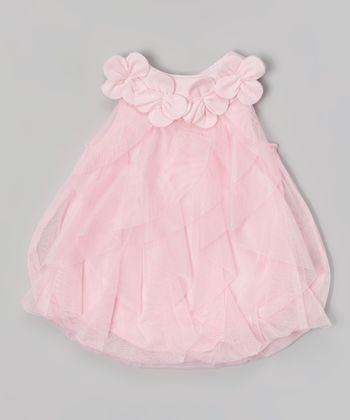 Baby Essentials Pink Ruffle Bubble Bodysuit