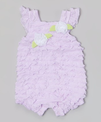 Baby Essentials Lilac Ruffle Romper
