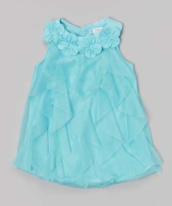 Baby Essentials Teal Ruffle Bubble Bodysuit