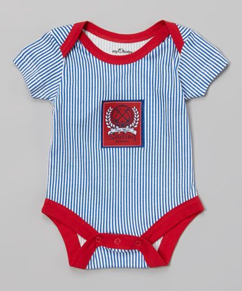 Blue & Red Stripe Sailing Bodysuit - Infant