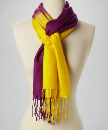 Yellow & Purple Ombré Scarf