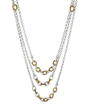 Silver & Gold Link Necklace