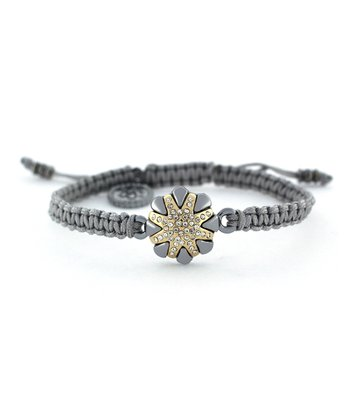 Hematite Crystal Flower Friendship Bracelet
