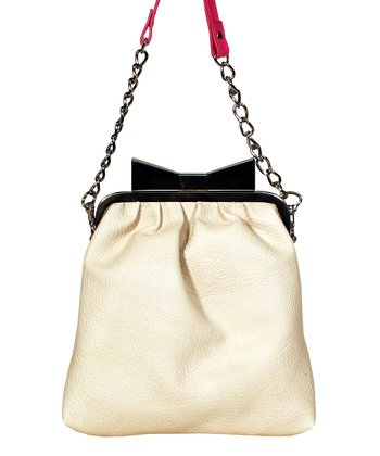 Cream Alma Framed Crossbody Bag