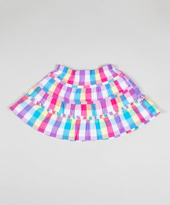 Pink Plaid Field Day Skirt - Toddler & Girls