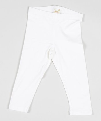 White Lazy Sunday Leggings - Girls