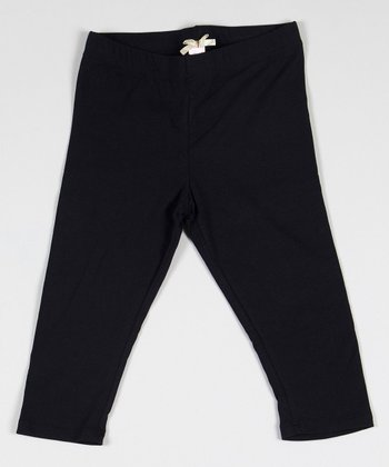 Black Lazy Sunday Leggings - Girls