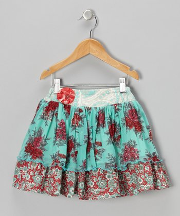 Red & Blue Addie Skirt - Infant, Toddler & Girls