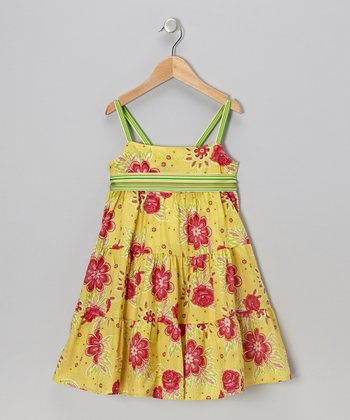 Bright Yellow Annie Dress - Toddler & Girls
