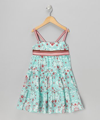 Red & Blue Annie Dress - Toddler & Girls