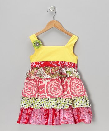 Bright Yellow April Dress - Toddler & Girls