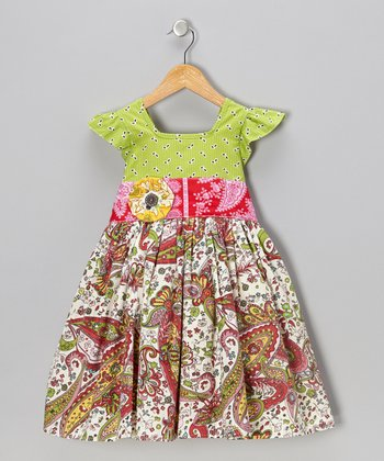 Bright Lime Charlotte A-Line Dress - Toddler