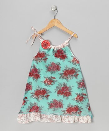 Red & Blue Emily Swing Dress - Infant, Toddler & Girls