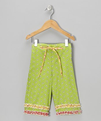 Bright Lime Katie Capri Pants - Infant