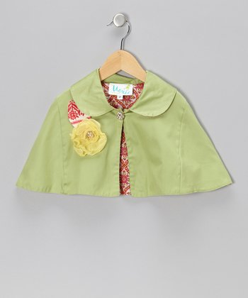 Green & Yellow Megan Cape - Infant, Toddler & Girls