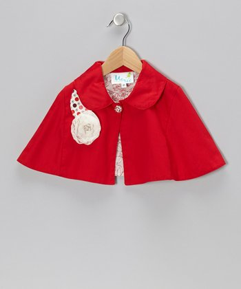 Red Megan Cape - Infant, Toddler & Girls