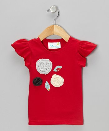 Red & Blue Rosie Tee - Infant