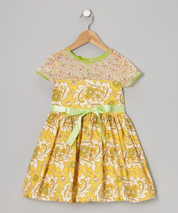 Bright Yellow Clementine A-Line Dress - Infant, Toddler & Girls