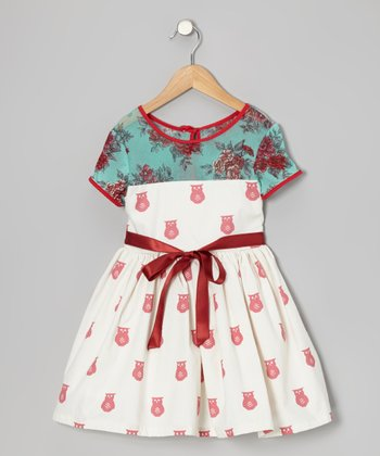 Red & Blue Clementine Dress - Infant & Toddler