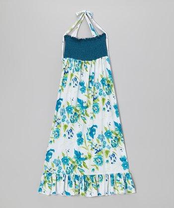 Lori & Jane Blue & White Floral Maxi Dress