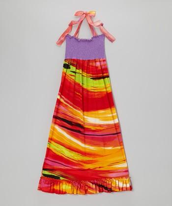 Lori & Jane Purple & Red Maxi Dress